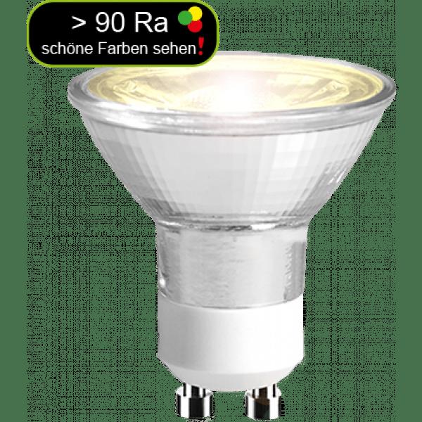 led strahler 5 watt 345 lumen ersetzt 50 watt warmwei gu10 90 ra. Black Bedroom Furniture Sets. Home Design Ideas